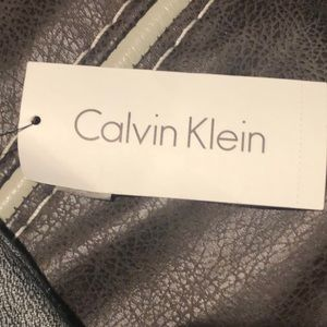 Brand new Calvin Klein gray and black blazer